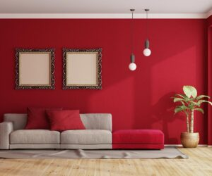 luxurious red wall.