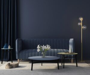 midnight blue living room wall paint.